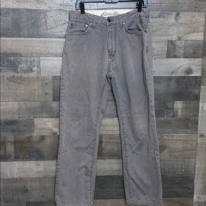 Gray Eddie Bauer Legend Wash Pants